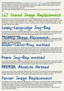 7 image replacement methods
