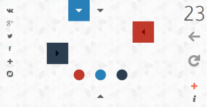 GameAboutSquares level 23; starting position