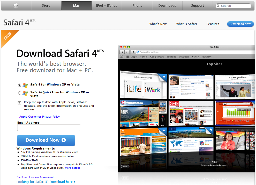 Safari 4 on linux – download now – flapjacktastic