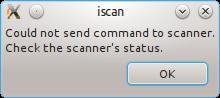 iscan error dialog