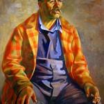 Juan Corbett sits for an oil painting