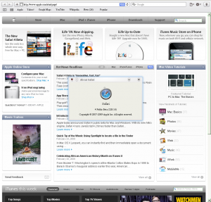 Safari 4 beta running under WINE on Ubuntu
