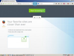 New bookmarking button in Firefox as seen in Microsoft Windows XP