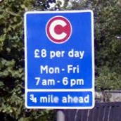 Congestion Charge £8 - Talgarth Road