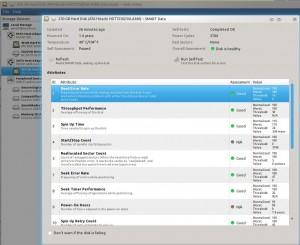 SMART disk monitoring information via palimpsest