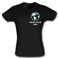 Earth Hour 2009 womens tshirt