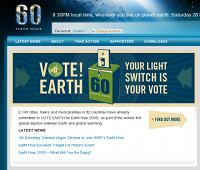 Visit the Earth Hour website for more info